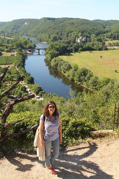 Vistas del río Dordoña desde el castillo de Beynac.