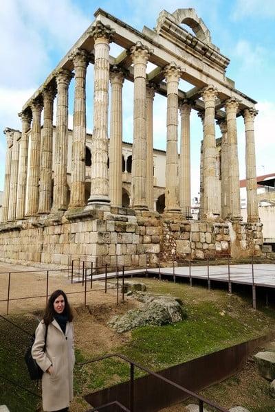 El Templo de Diana es uno de los monumentos más imponentes de Mérida.