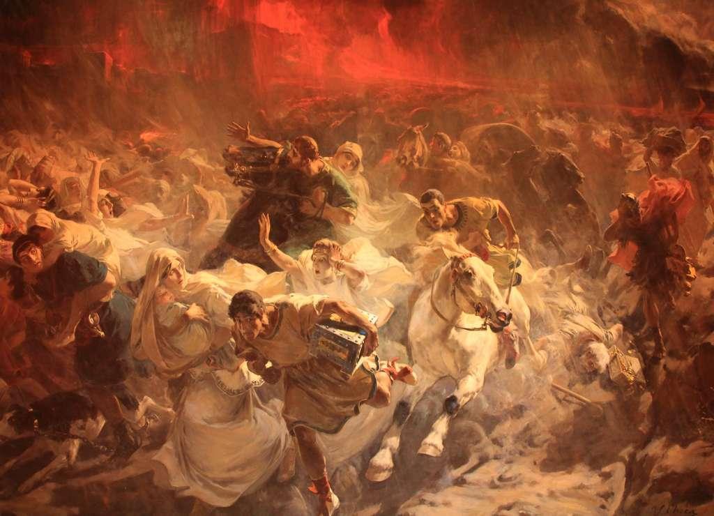 """""""Los últimos días de Pompeya"""", obra del pintor colmenarete Ulpiano Checa."""
