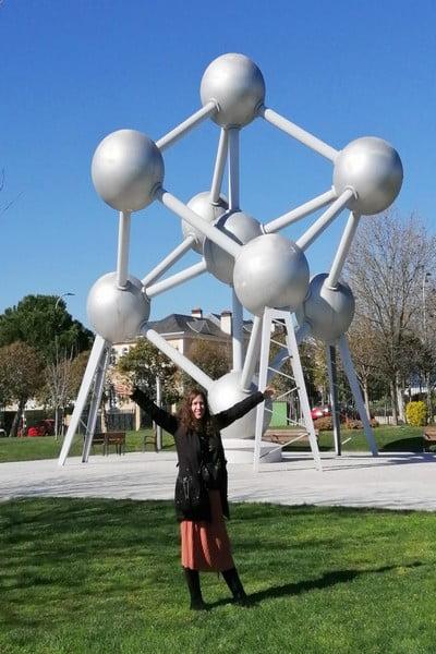 Qué ver en el Parque Europa: réplica del Atomium de Bruselas.