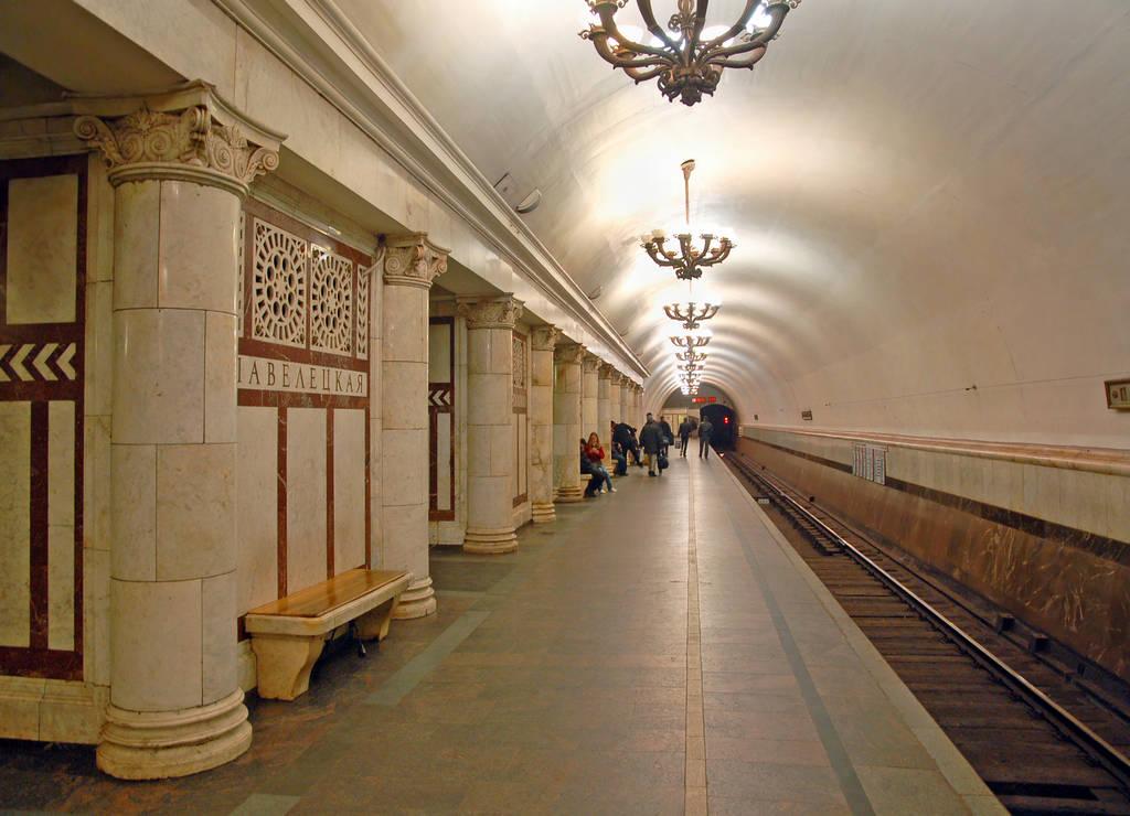 La protagonista en la estación Paveletskaya, en la línea Koltsevaya, es la agricultura.