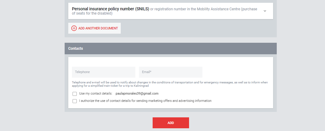 No olvides incluir tu correo electrónico para que puedan avisarte de cualquier cambio en las condiciones de la reserva.