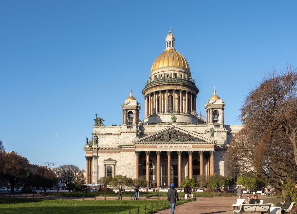La Catedral de San Isaac fue pintada de gris durante la II Guerra Mundial para que pasara desapercibida.