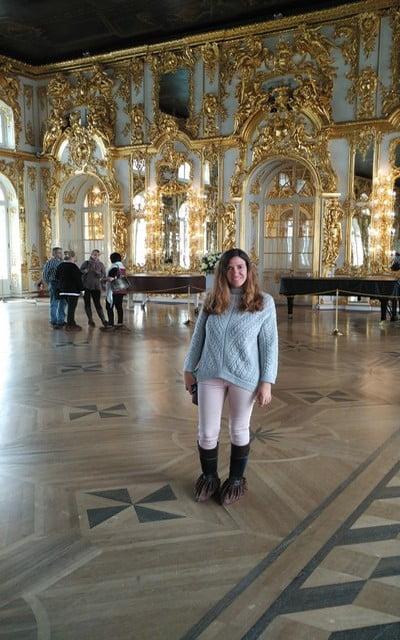 No puede faltar en tu itinerario por Moscú y San Petersburgo en una semana el Palacio de Catalina la Grande en Pushkin.