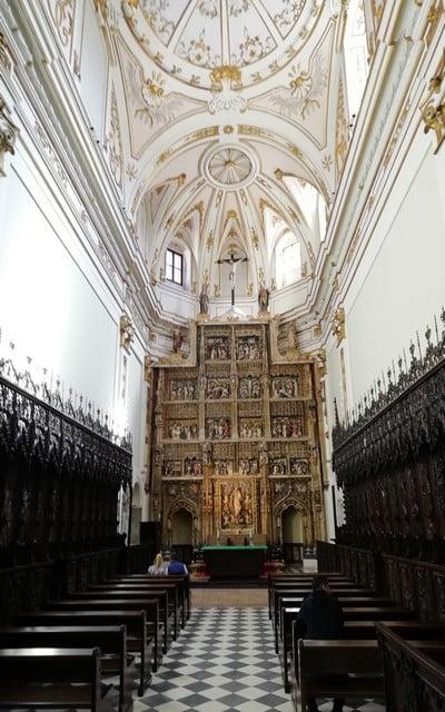 Retablo Mayor de la iglesia y sillería del coro del Monasterio de Santa María de El Paular.