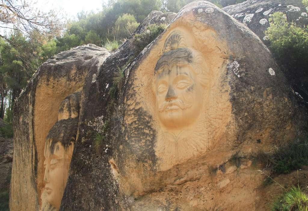 Esta pared de roca me impresionó mucho por la expresividad y tamaño de sus figuras.