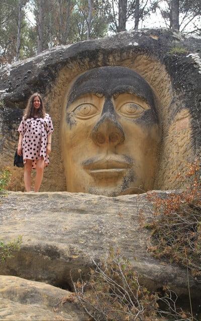La escultura del Chamán es una de las más impresionantes de la Ruta de las Caras.