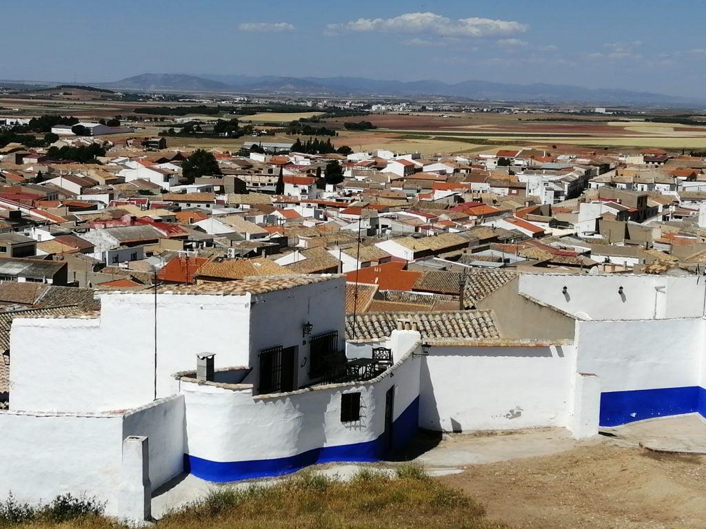 Vistas panorámicas del barrio del Albaicín desde la Sierra de los Molinos.