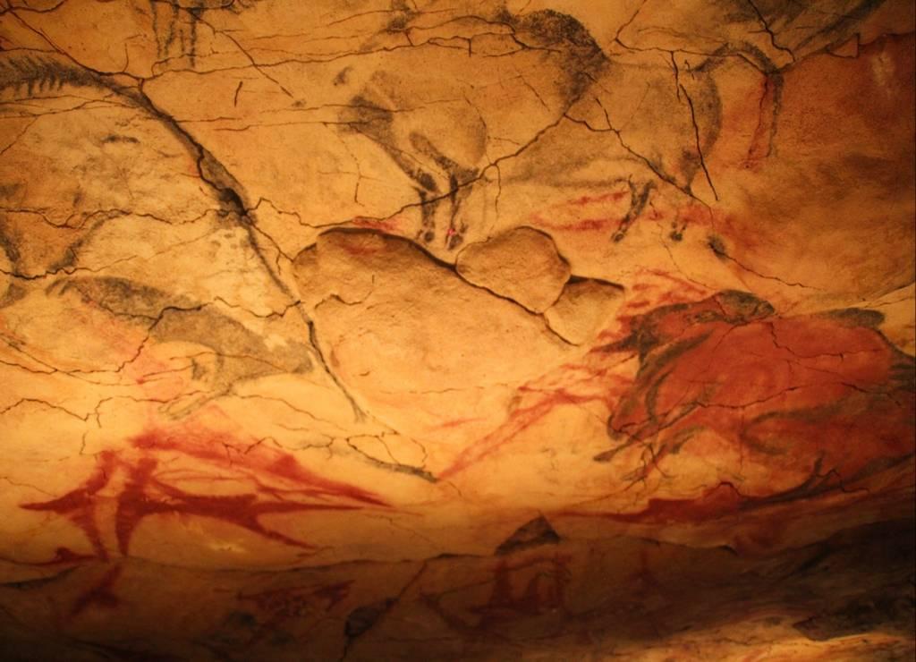 Los bisontes son el animal más representado en las Cuevas de Altamira.