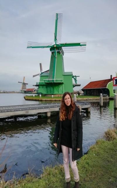 Qué ver cerca de Ámsterdam: molinos de viento de Zaanse Schans.