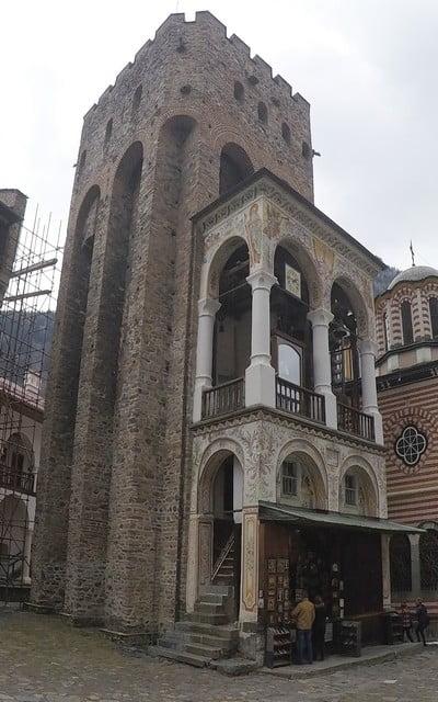 La Torre de Hrelja es el edificio más antiguo del Monasterio de Rila.